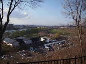 陣ヶ丘から見た北上川展勝地