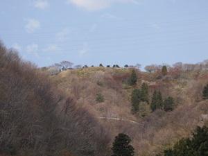 麓から見た大槌城