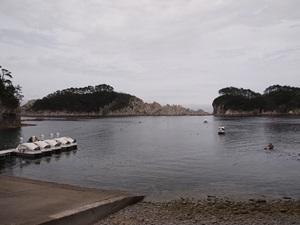ボート乗り場付近から見た浄土ヶ浜