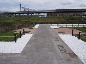 白河城道場門跡礎石