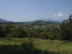 新府城本丸からの景色