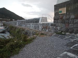 弁天台場から転用された石垣