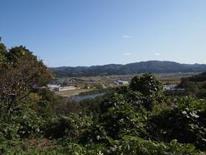 花沢館頂上からの眺め