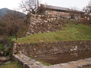 秋月城北西隅の櫓台